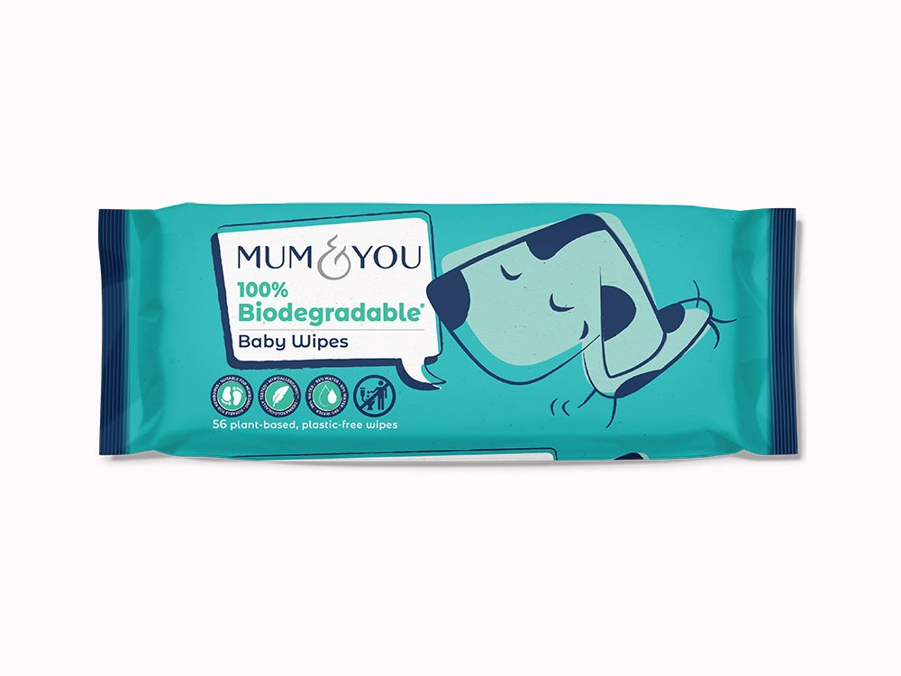 100% Biodegradable Baby Wipes (6 Pack)