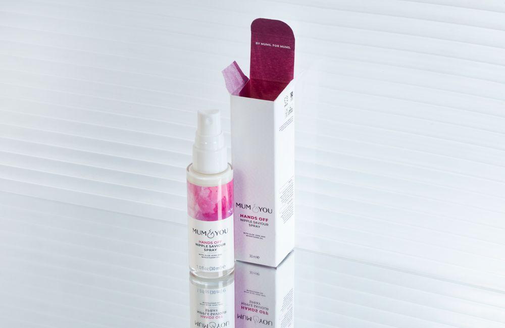 Hands off nipple spray helps restore and relieve sensitive nipples between feeding fenzies