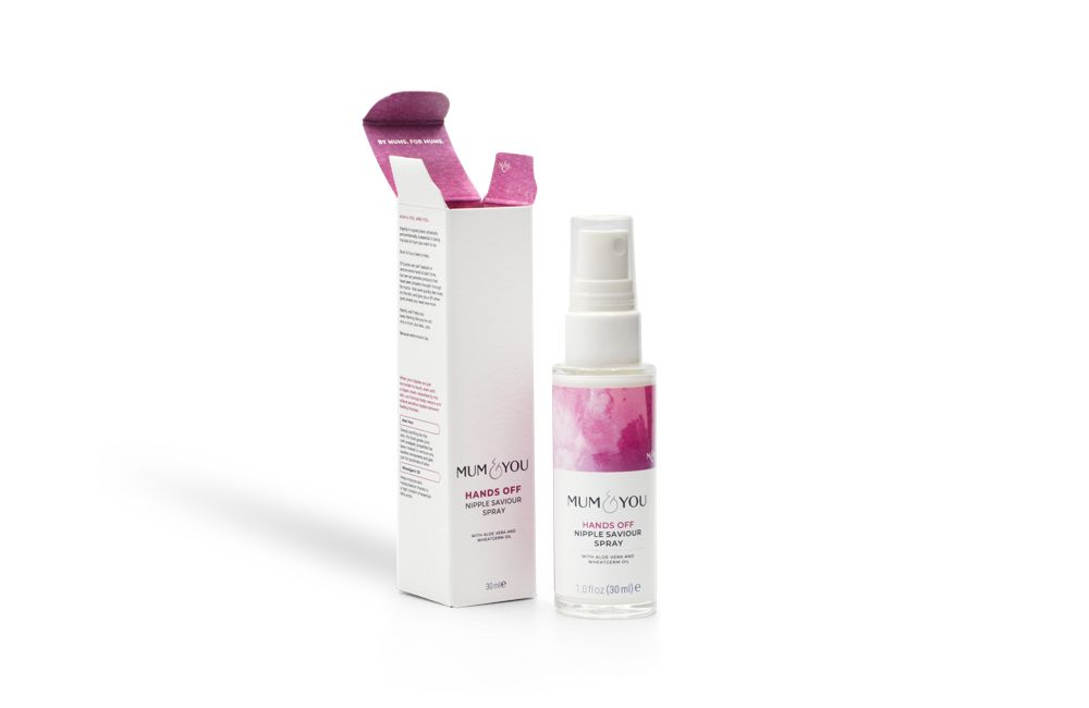 Nipple spray no-touch solution to help sore nipples from feeding safe during and post pregnancy