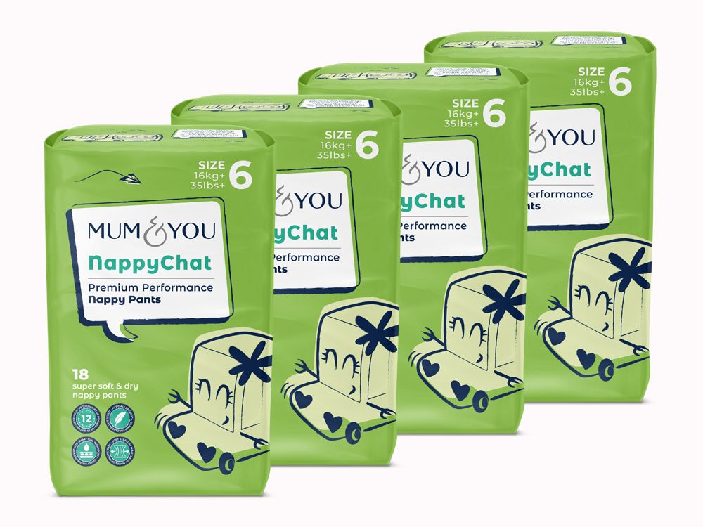 Nappychat nappy pants (4 pack)